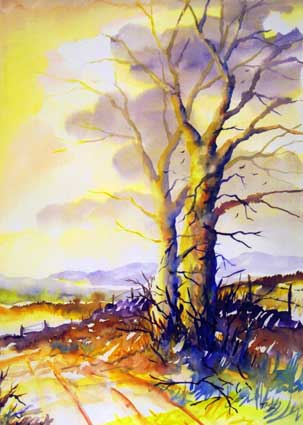 Watercolour Landscape Paintings Watercolour PaintingsAcrylic Paintings Sunset